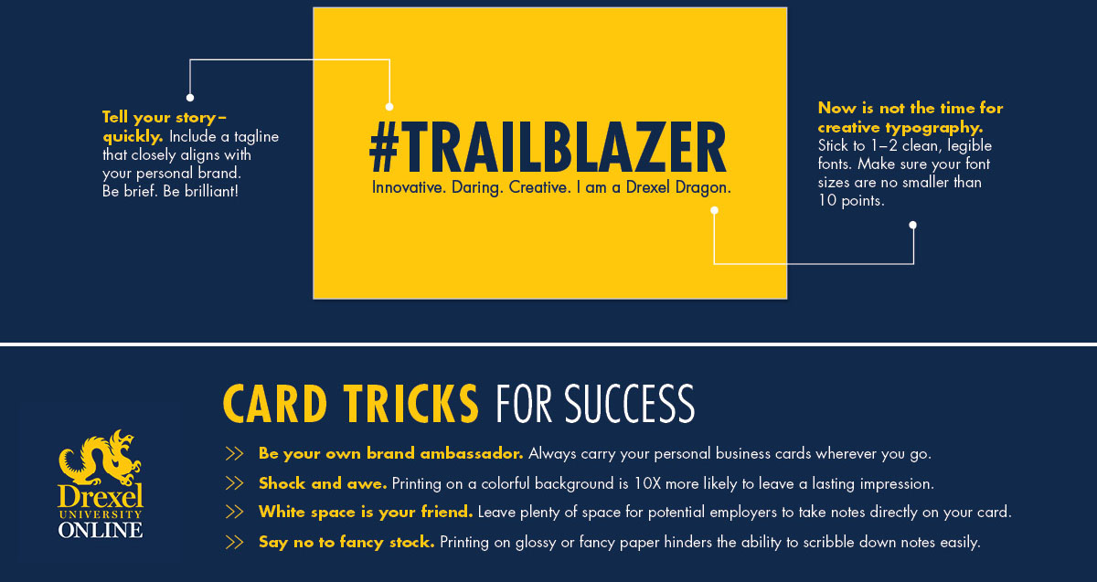 Leave a Lasting Impression with Modern Business Cards | Drexel Online