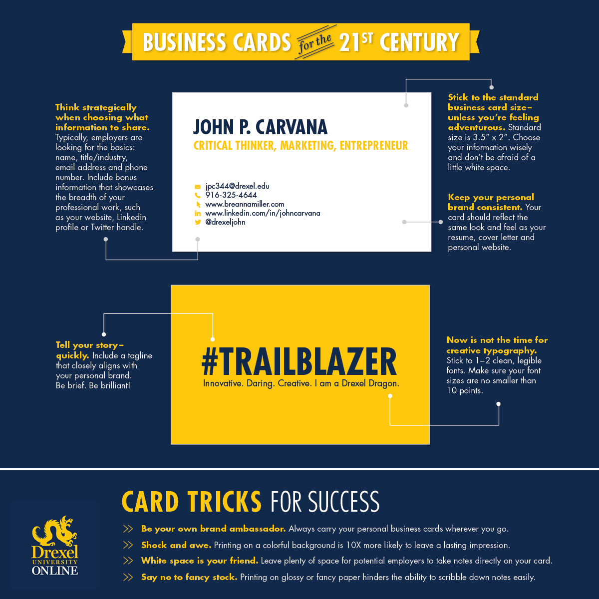 Infographic - Business Cards